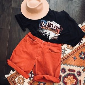 Vintage Coral/Orange Guess High Waisted Jeans